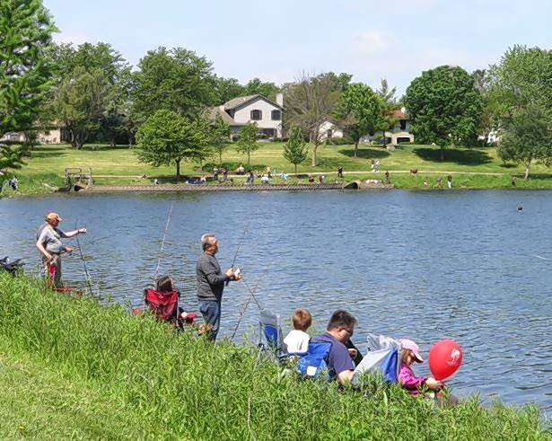Fishing derbies are offered in several suburbs in the summer and are a great opportunity for families to be outside together.