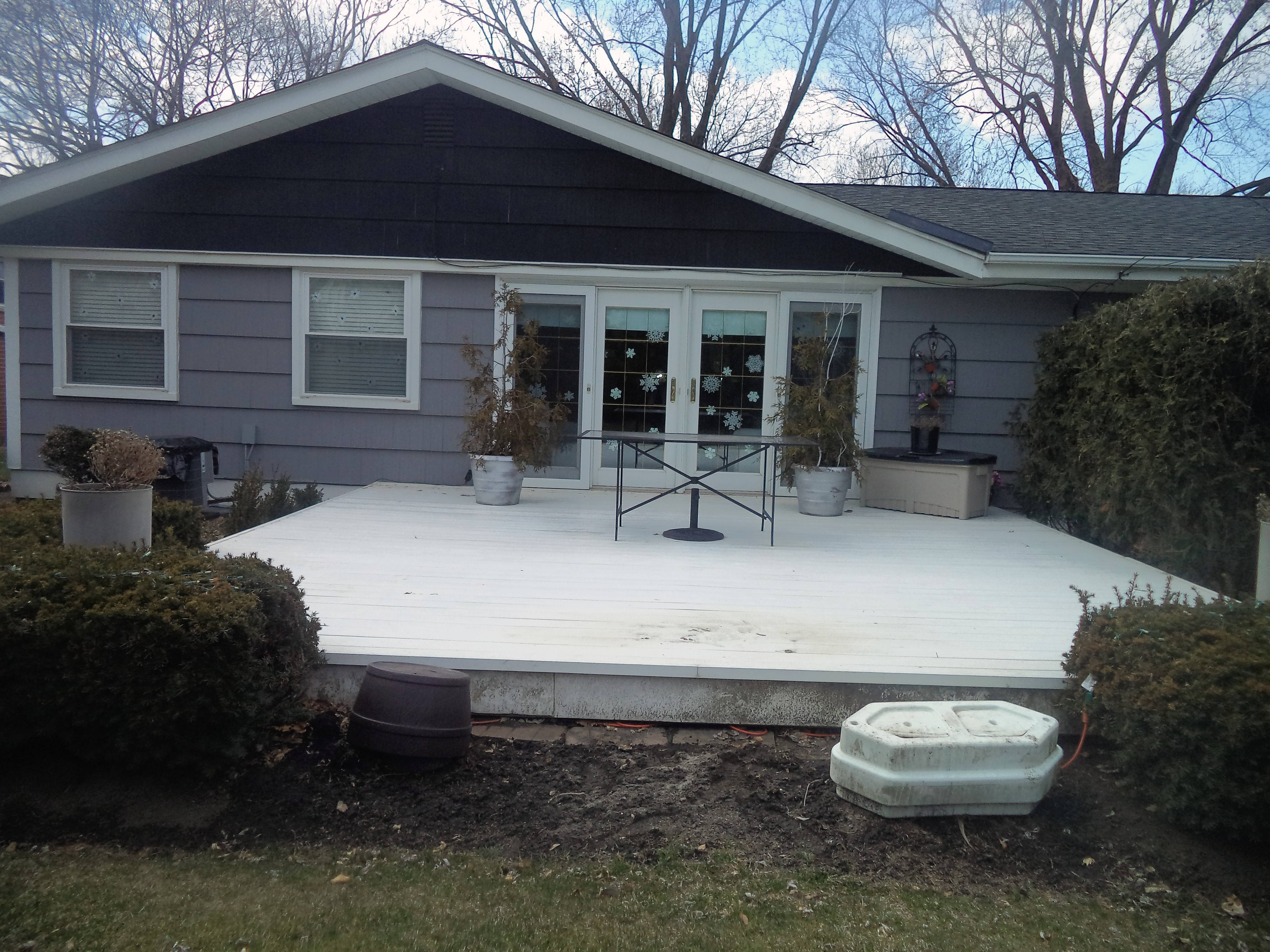 Laura Siracusa of Arlington Heights has a big, square vinyl deck that she calls her helipad.