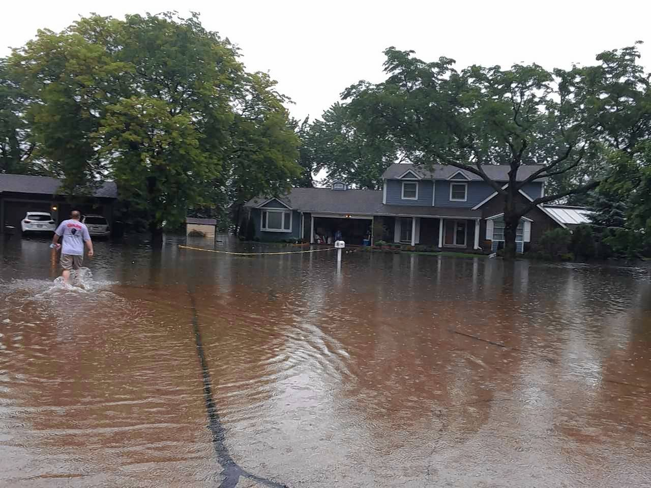 The home of Prospect Heights Mayor Nick Helmer wasn't spared from the flooding that hit the city over the weekend after heavy downpours Saturday and Sunday.