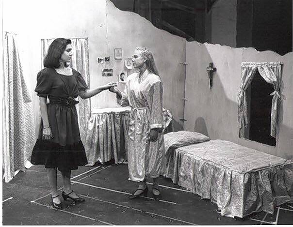 "Katrina Lenk, left, played the role of Anita in ""West Side Story"" while a student at Barrington High School. With her is Megan Miles Hahn."