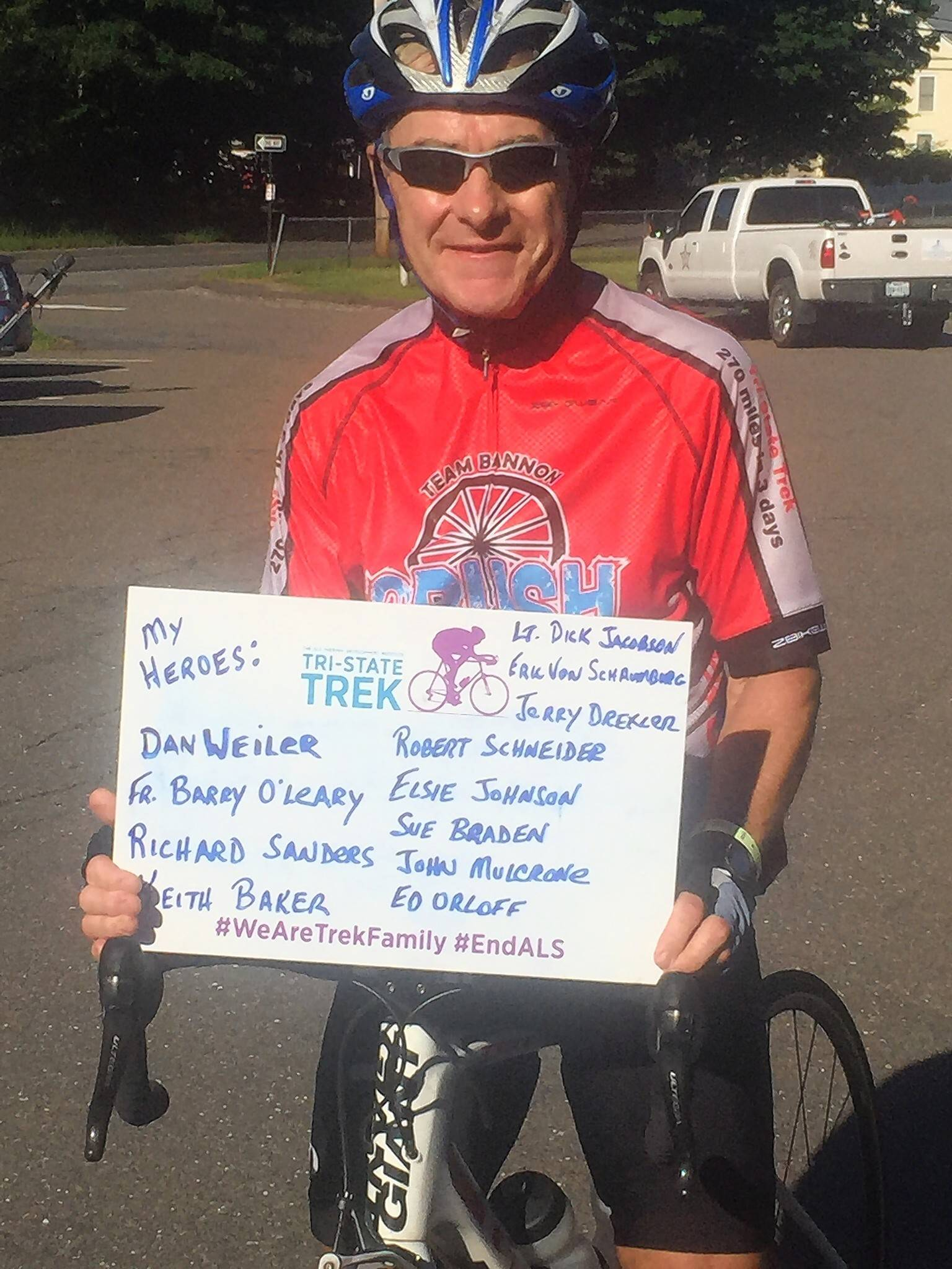 Later this month, Huntley resident Bob Higgins will ride in his fourth Tri-State Trek. The event will begin at Boston College in  Massachusetts and ends June 24 in Greenwich, Connecticut.