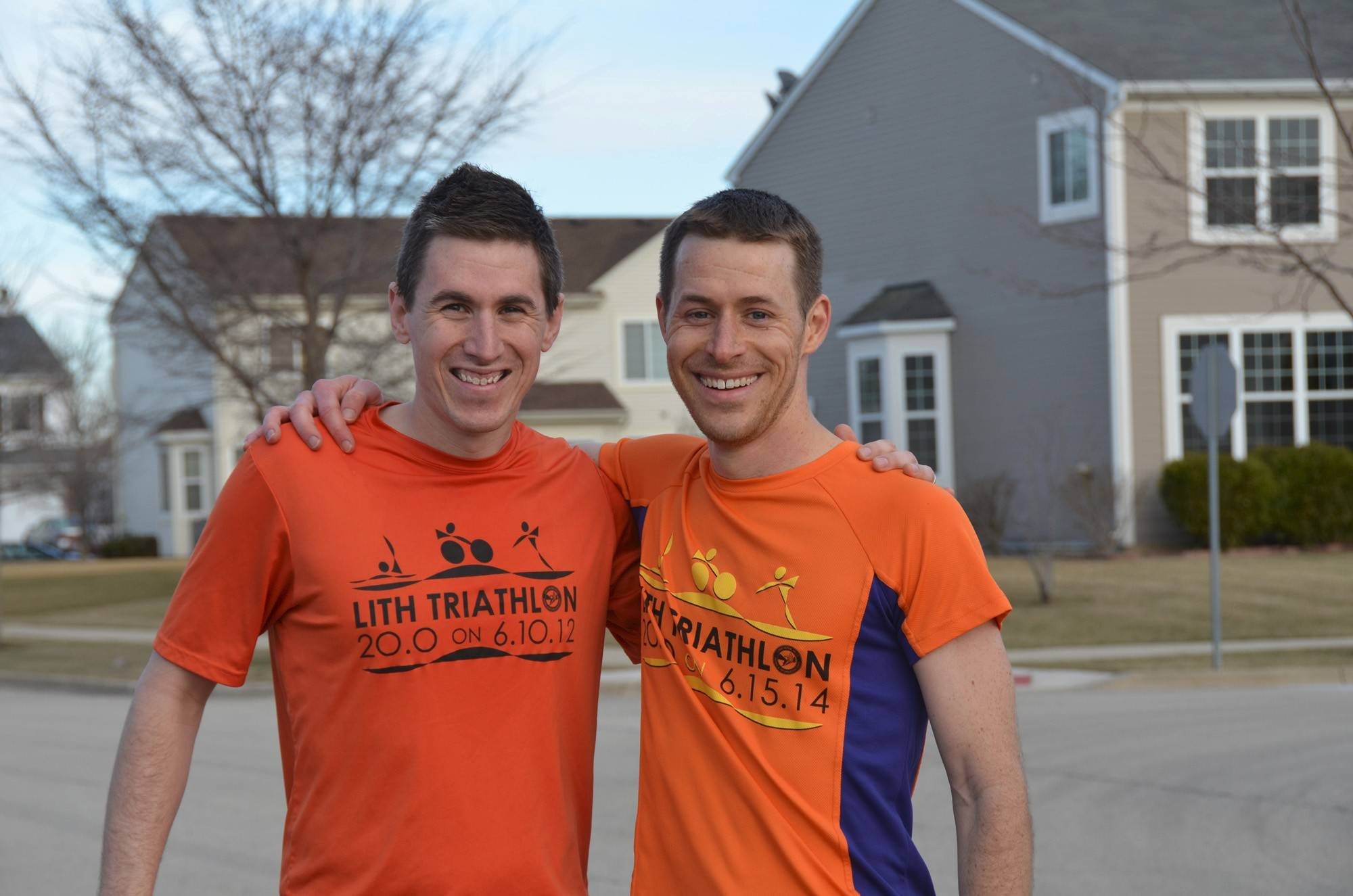 Huntley residents Matt Kidd, left, and Shane Firsching have been co-race directors of the Lake in the Hills Triathlon for the past four years. They took over organizing the event after an outside event organizer had backed out. This year's race is Sunday.