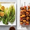 Barbecued Tempeh Skewers With Grilled Romaine