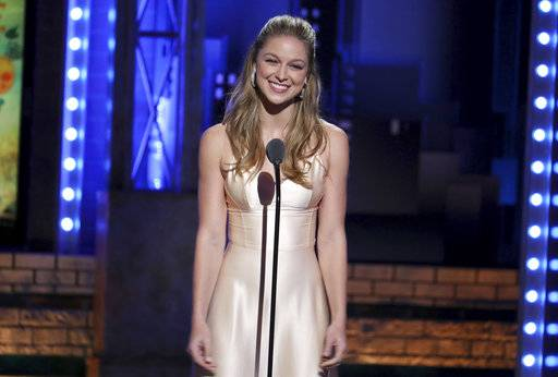 "FILE - In this June 10, 2018 file photo, Melissa Benoist introduces a performance by the cast of ""Once on This Island"" at the 72nd annual Tony Awards in New York. The actress, who stars on the CW series ""Supergirl� will play legendary songwriter Carole King on Broadway. (Photo by Michael Zorn/Invision/AP, File)"