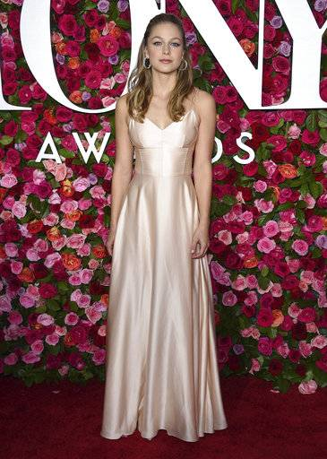 "FILE - In this June 10, 2018 file photo, Melissa Benoist arrives at the 72nd annual Tony Awards in New York. The actress, who stars on the CW series ""Supergirl� will play legendary songwriter Carole King on Broadway.  (Photo by Evan Agostini/Invision/AP, File)"