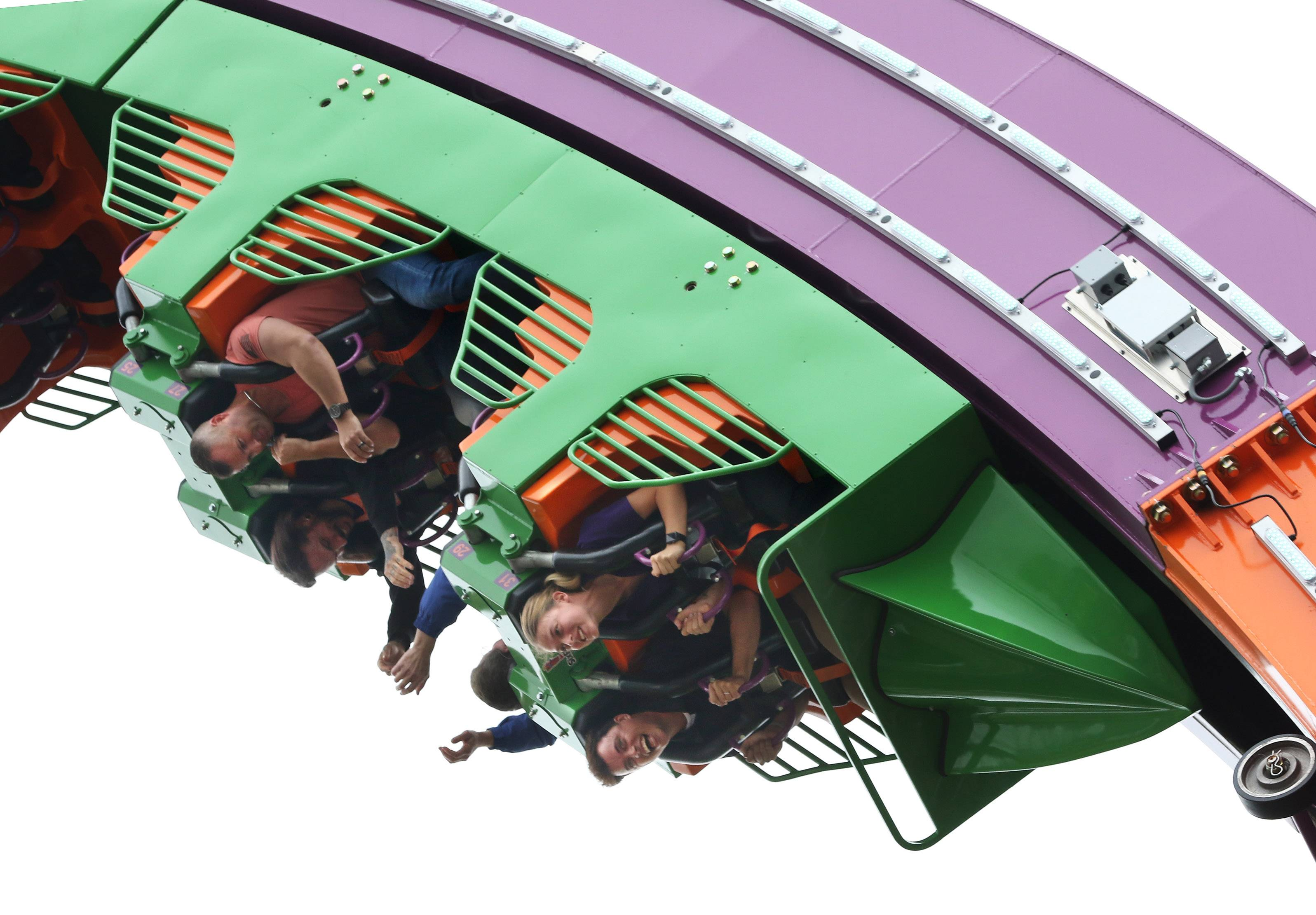 Riders try the new Mardi Gras Hangover roller coaster at Six Flags Great America in Gurnee. The Gurnee village board is expected to vote Monday on giving the park $4 million in tax incentives to offset costs for capital improvements, such as infrastructure and security enhancements.