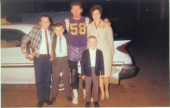 Sammy Skobel with his family on the night he retired from the roller derby.