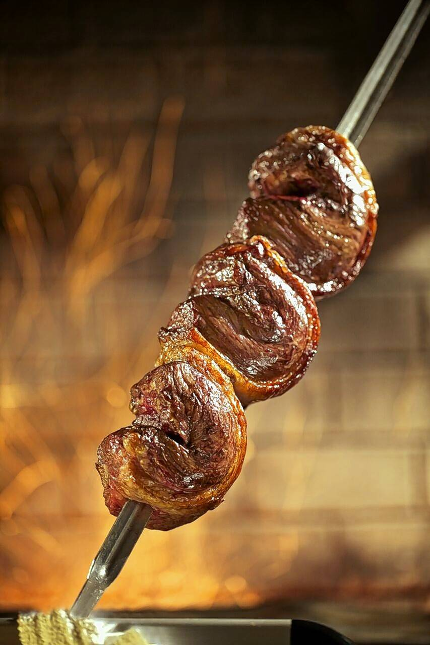 Fogo de Chao serves skewers upon skewers of meat.