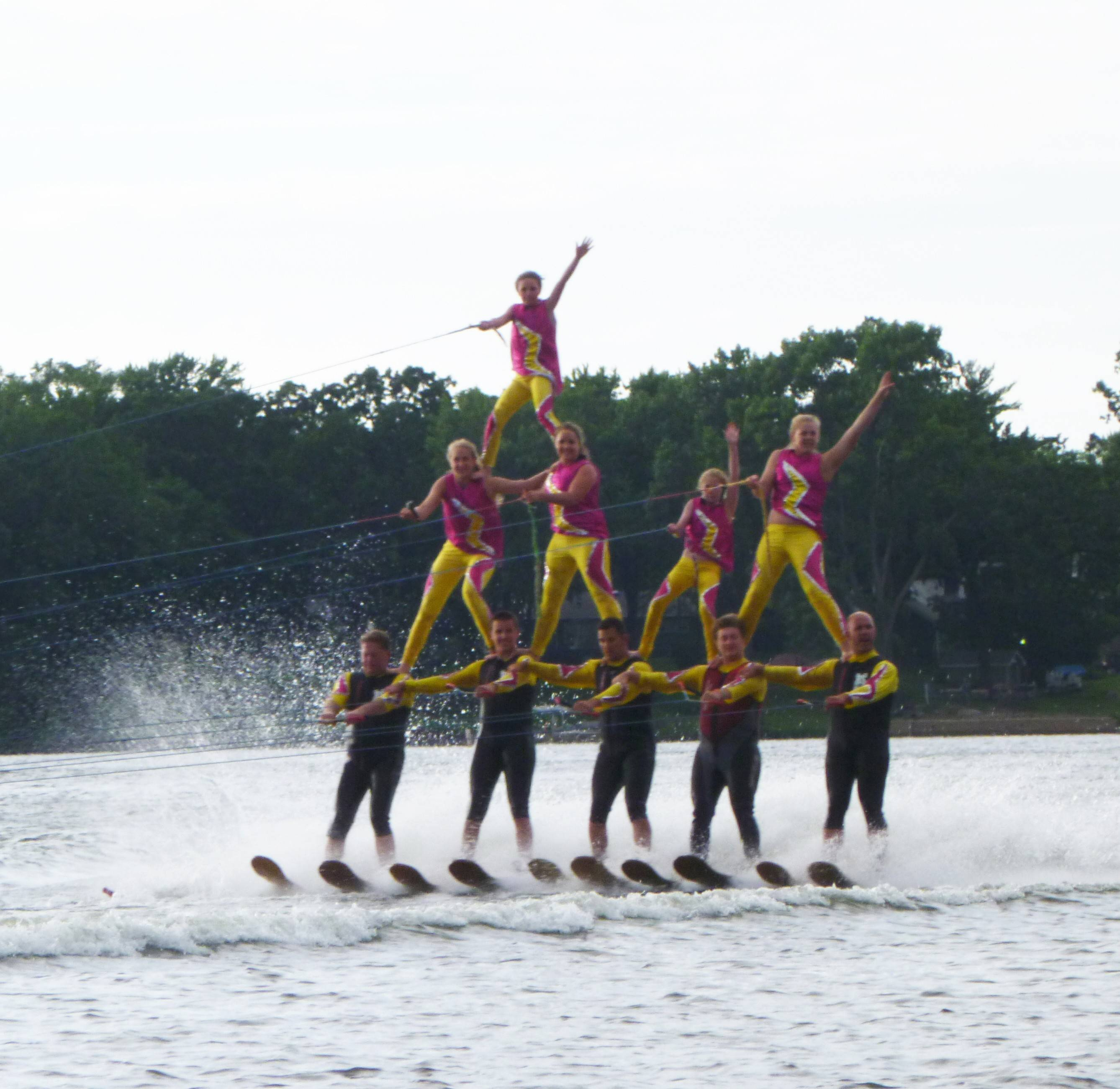 The Wonder Lake Ski Show Team will perform at the Beach Bash at Diamond Lake Beach in Mundelein. The event will also include a sand castle contest, a youth Ninja Warrior course, a Cardboard Regatta and more.