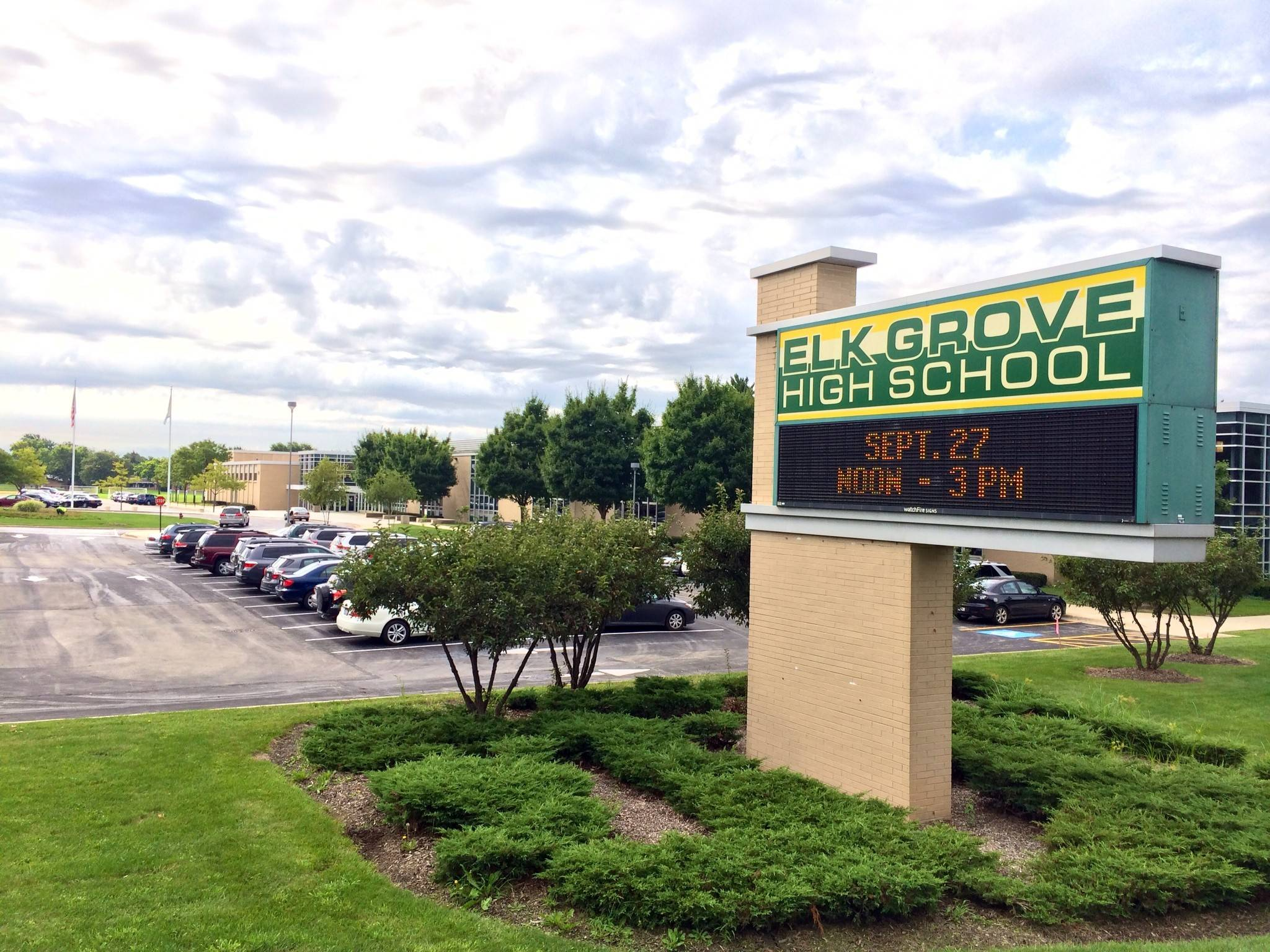 Elk Grove High School was awarded the LEED Silver level certification by the U.S. Green Building Council for the school's green operations and maintenance practices.