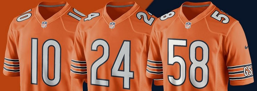 reputable site 15fee 8f2a9 Chicago Bears to wear orange jerseys for two games this season