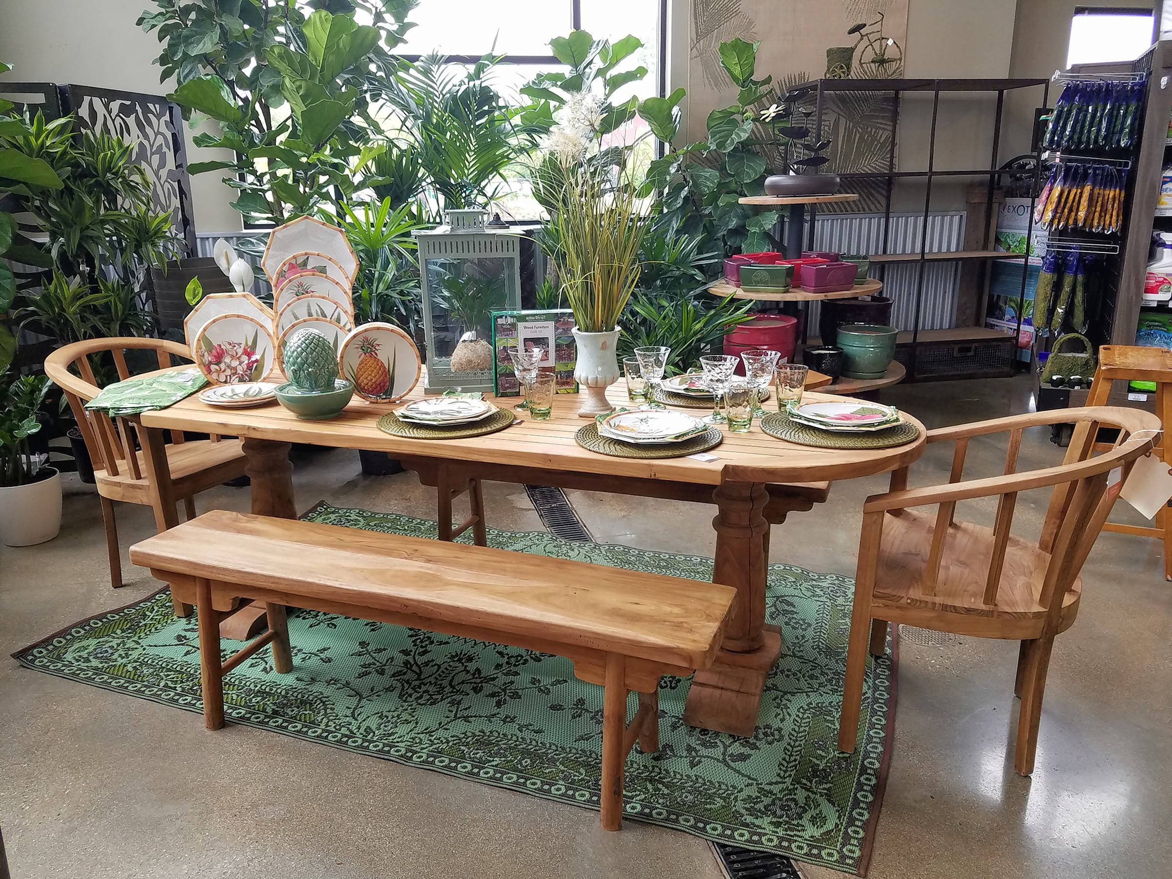 Exceptional A Stained Teak Dining Table Would Fit Perfectly In A Screened In Porch.