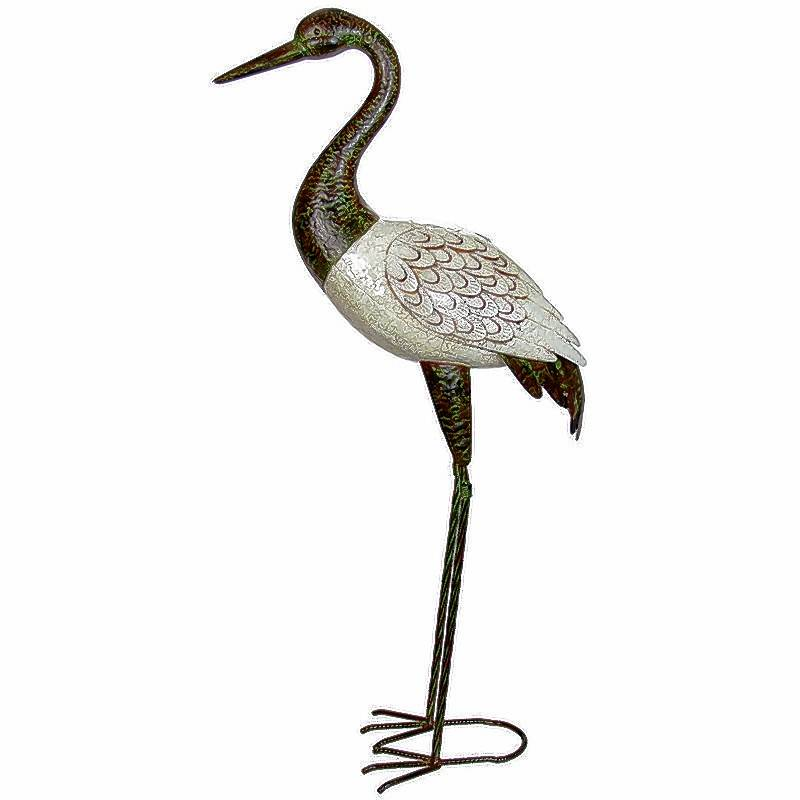 This 37 Inch Tall Metal Crane Sculpture Can Add An Unexpected Spark To Your  Outdoor