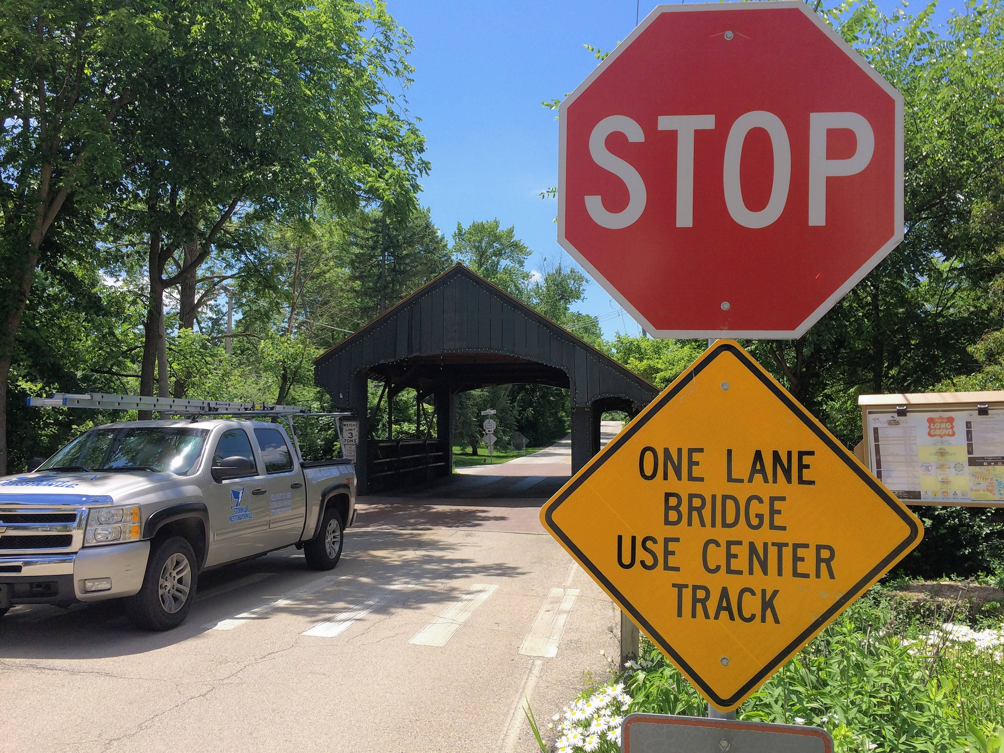 Built in 1906, the one-lane covered bridge on Robert Parker Coffin Road in Long Grove was added to the National Register of Historic Places on Friday