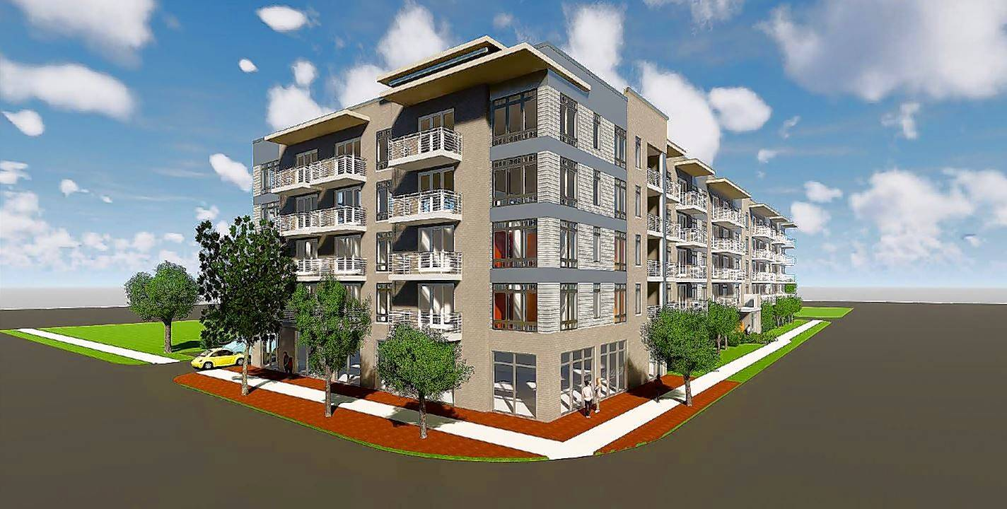 An Artistu0027s Rendering Shows The Five Story, 76 Unit Apartment Building  Proposed For