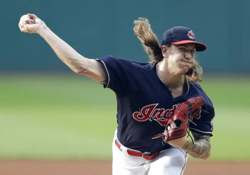 Cleveland Indians starting pitcher Mike Clevinger delivers in the first inning of a baseball game against the Chicago White Sox, Tuesday, June 19, 2018, in Cleveland. (AP Photo/Tony Dejak)