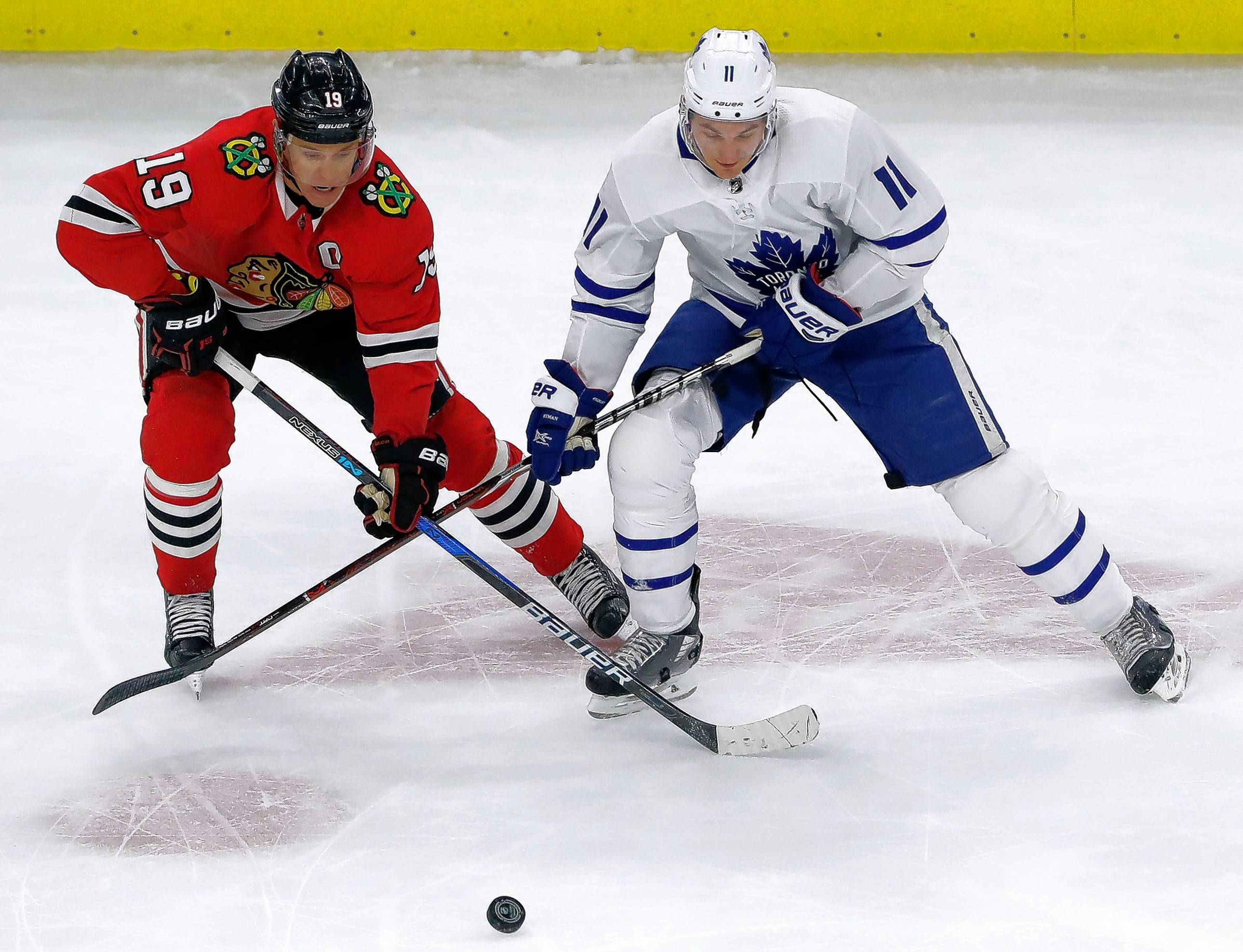 The Chicago Blackhawks and captain Jonathan Toews will host their NHL home opener against Toronto on Oct. 7 at the United Center. Toronto totaled 105 points last season but lost a first-round playoff series to Boston, 4-3.