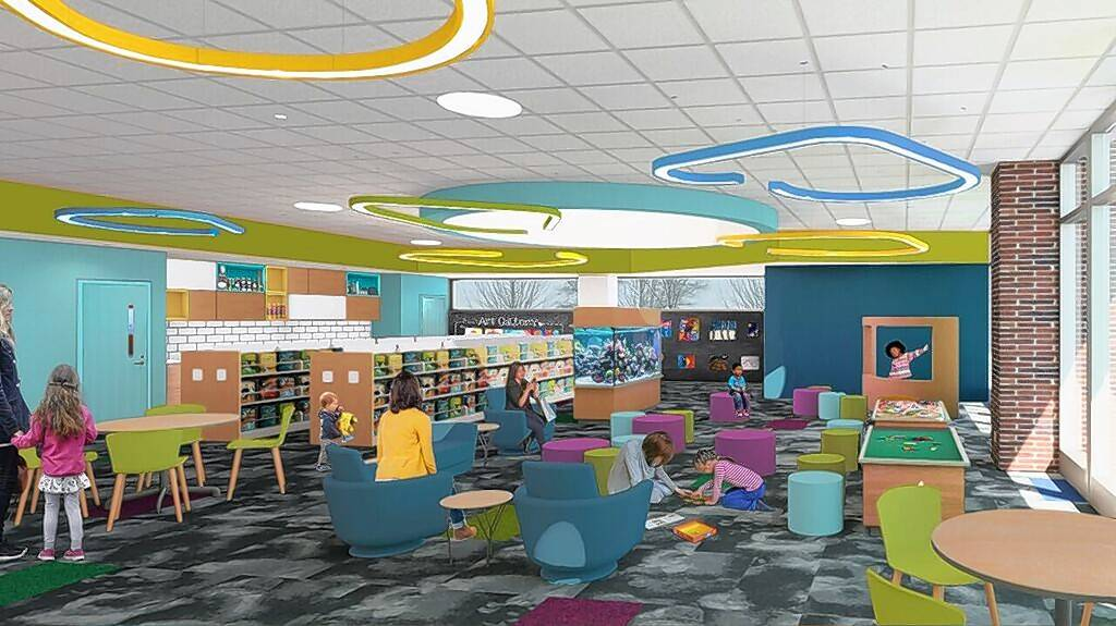 An architect's vision of the proposed children's department at the soon-to-be-expanded Aspen Drive Library in Vernon Hills.