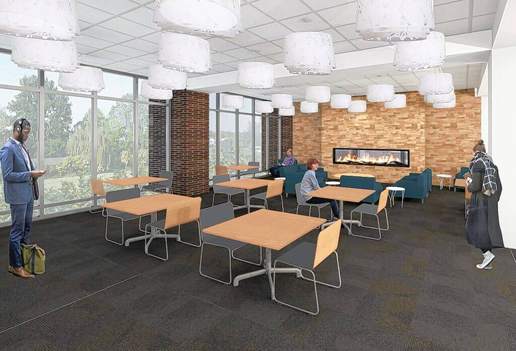 An architect's vision of a proposed quiet space inside the soon-to-be-expanded Aspen Drive Library in Vernon Hills.