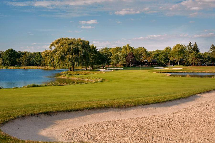 """The uniqueness of Kemper Lakes is that the front nine and back nine are separated,"" said Jackie Endsley, championship director for the KPMG Women's PGA Championship. ""We built the site plan around that. We're constructing eight large structures"" focused around the Fan Zone close to 18 green and the practice areas."