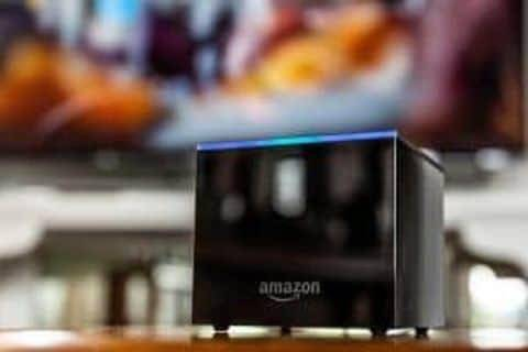 The Amazon Fire TV Cube has to sit in the open, away from your TV speakers, so Alexa can hear your commands.