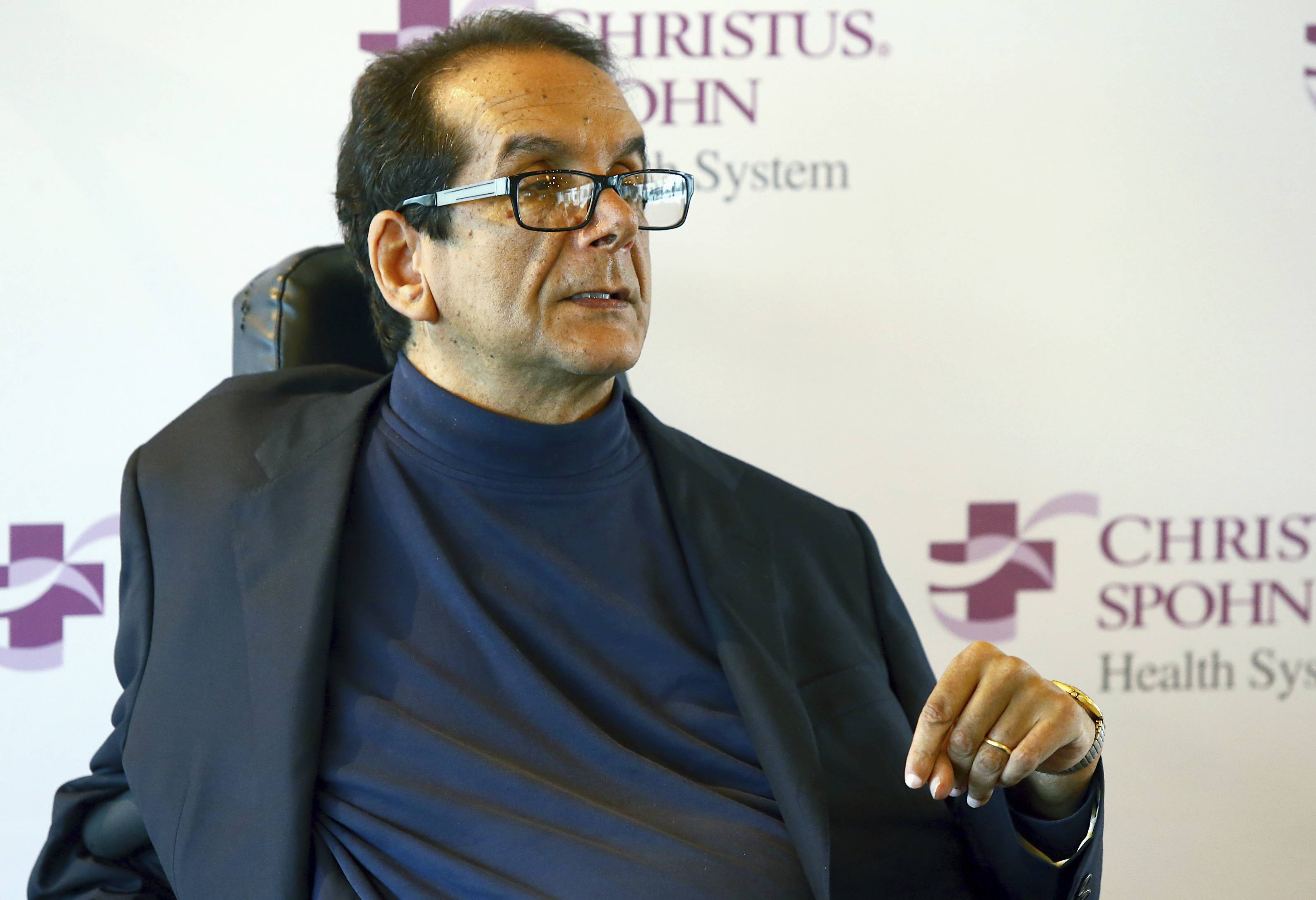 Longtime conservative columnist and broadcast commentator Charles Krauthammer, seen here in March 2015, died from cancer Thursday at age 68.