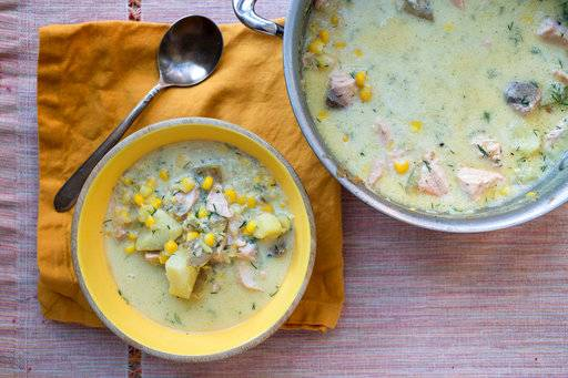 COOKING ON DEADLINE: Salmon Corn Chowder