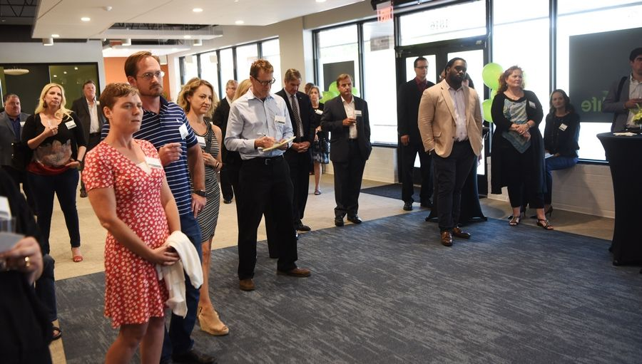 PharmaCann LLC hosted the grand opening of its dispensary Wednesday in Arlington Heights. The company moved to a location about three times as big as its old one in Schaumburg.