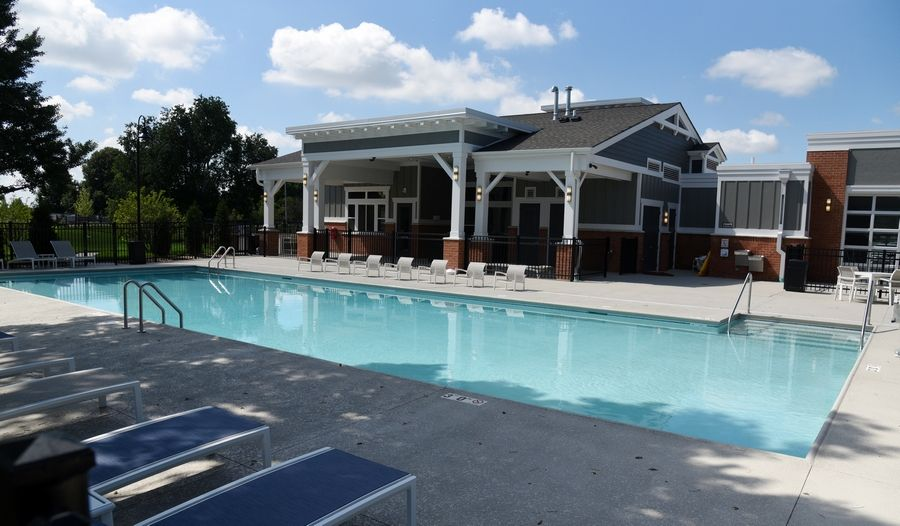 The pool opened last weekend at the Springs at Canterfield apartment community in West Dundee.