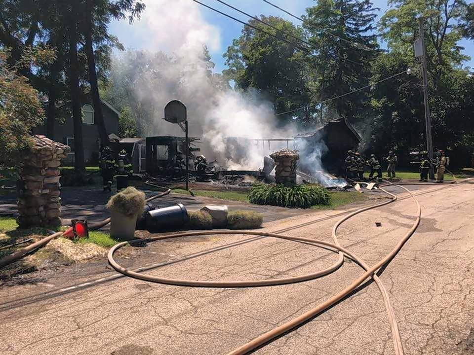 Fire Destroys Mobile Home Garage In Cary