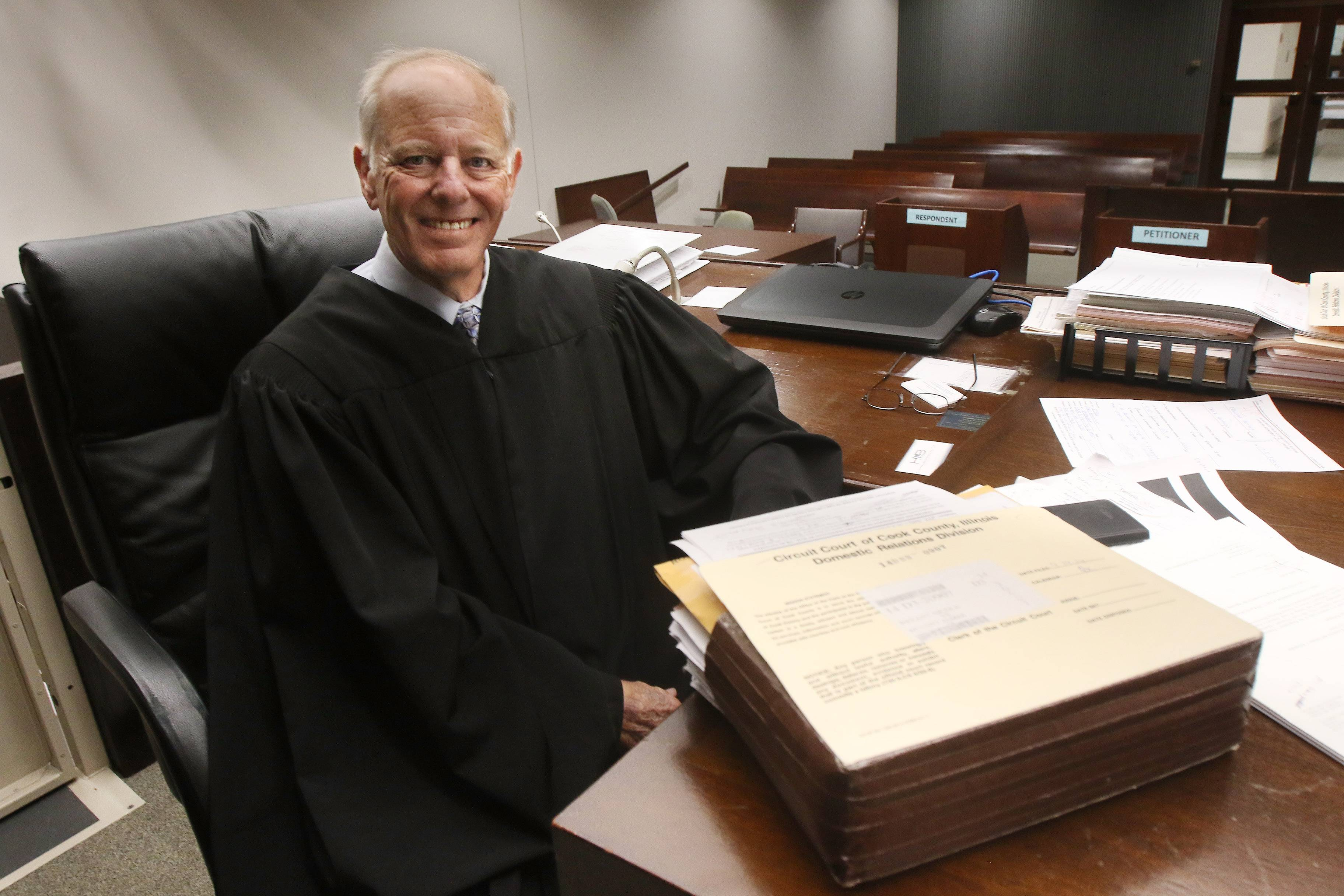 After more than 40 years as a lawyer and more than 17 as a jurist, Cook County Judge Hyman Riebman is stepping away from the bench.