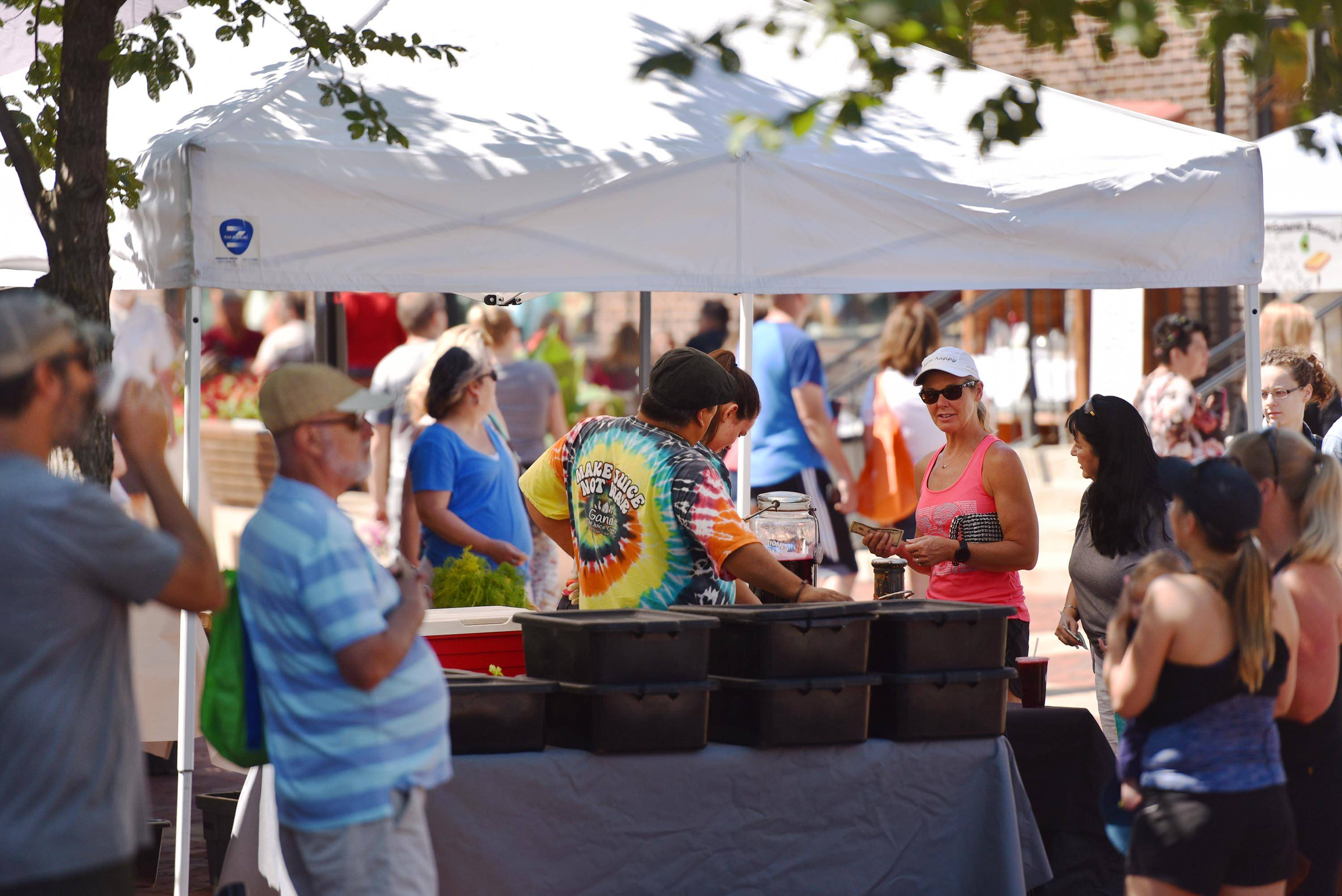The pleasant weather kept the farmers market busy on North River Street in Batavia Saturday. The event is held every Saturday, 8 a.m. to noon, through Oct. 27.