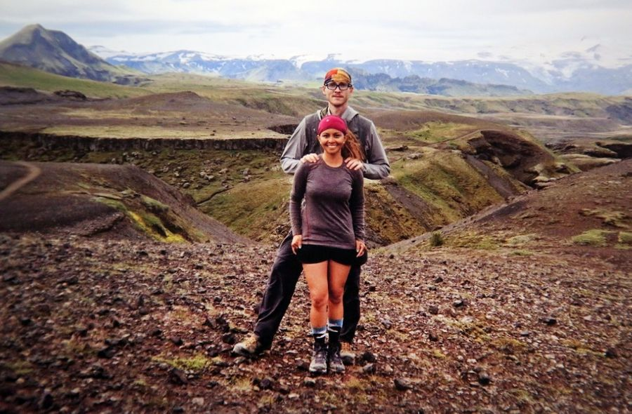 Always up for a backpacking adventure, Paul and April Braker of Schaumburg enjoyed this trip to Iceland.