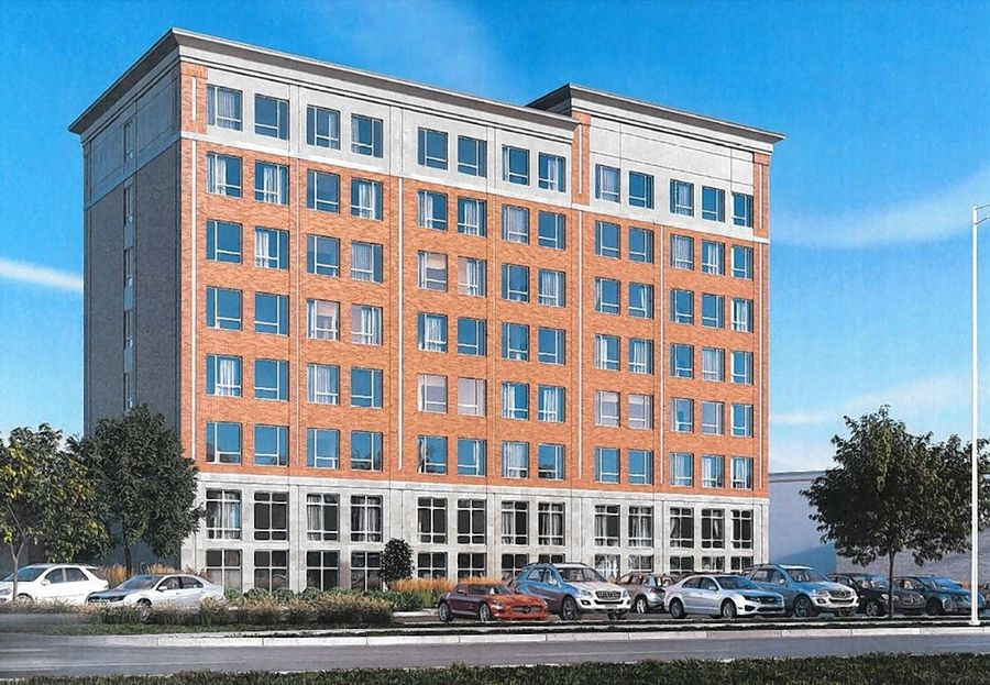 Plans for a 9-story, 62-room hotel attached to the European Crystal banquet hall in Arlington Heights will be reviewed by the village's plan commission Wednesday.