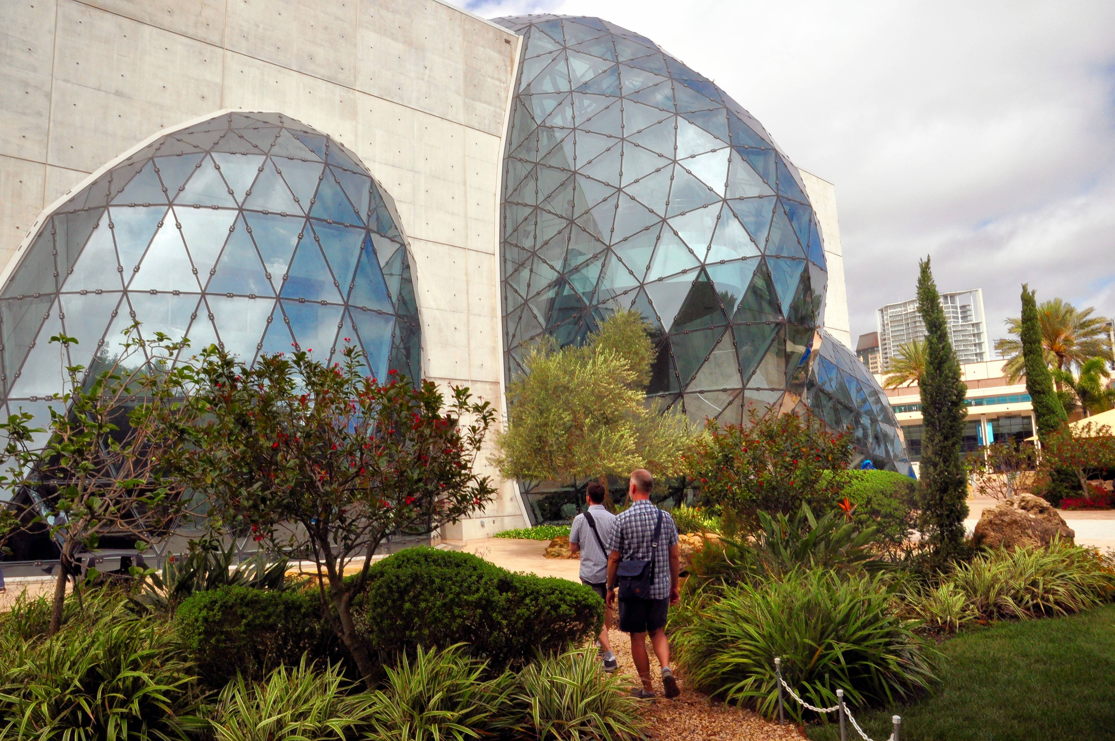 The building housing the Dali Museum in St. Petersburg, Fla., has avant-garde architecture making it a work of art itself.