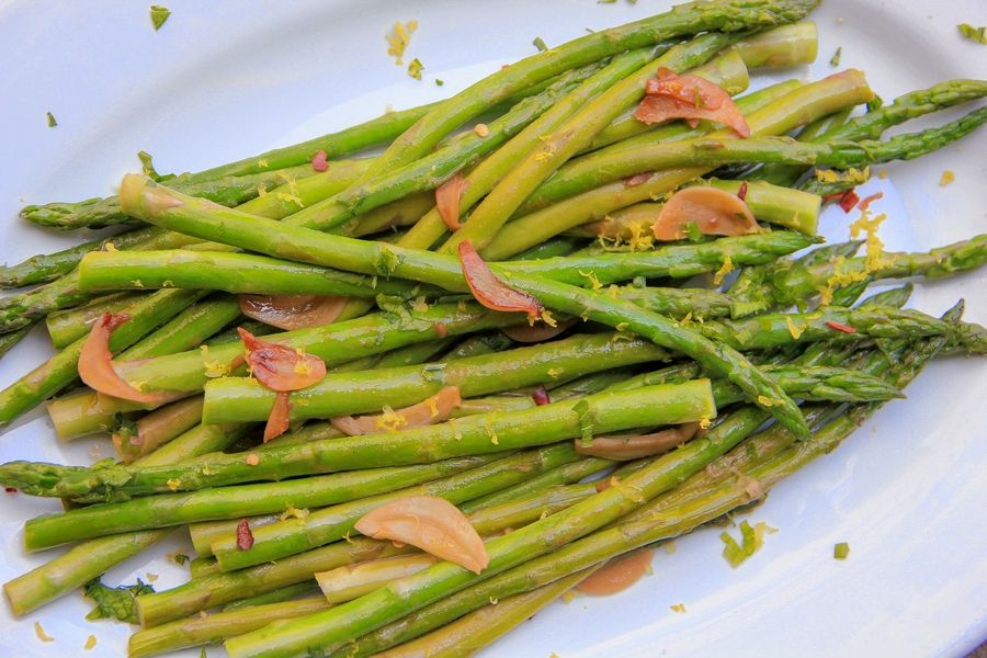Quick-sauteed asparagus with a soy sauce glaze is a go-to dish in Melissa d'Arabian's house.