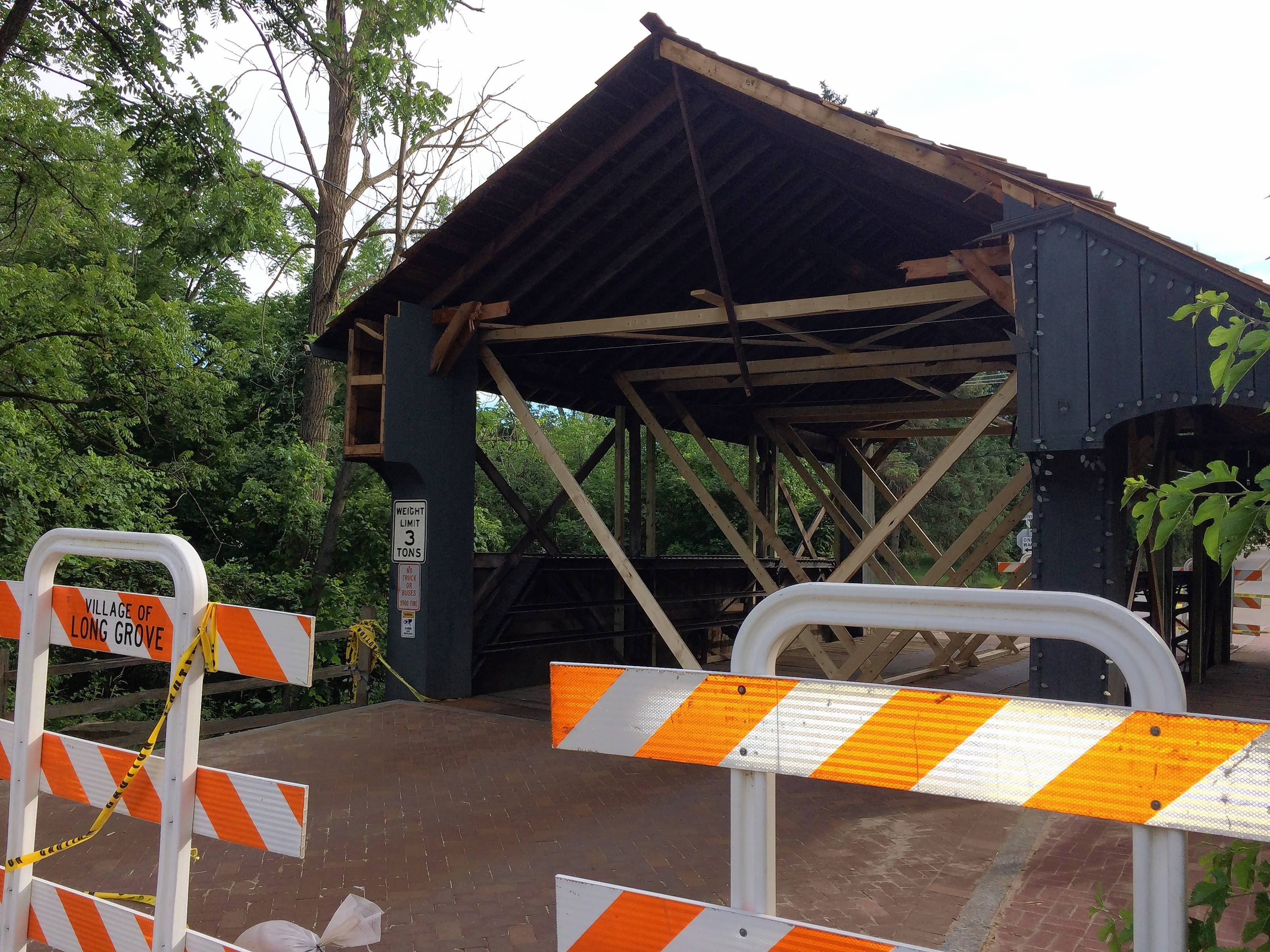 Long Grove covered bridge to be closed 9 or 10 months, 'best-case scenario'