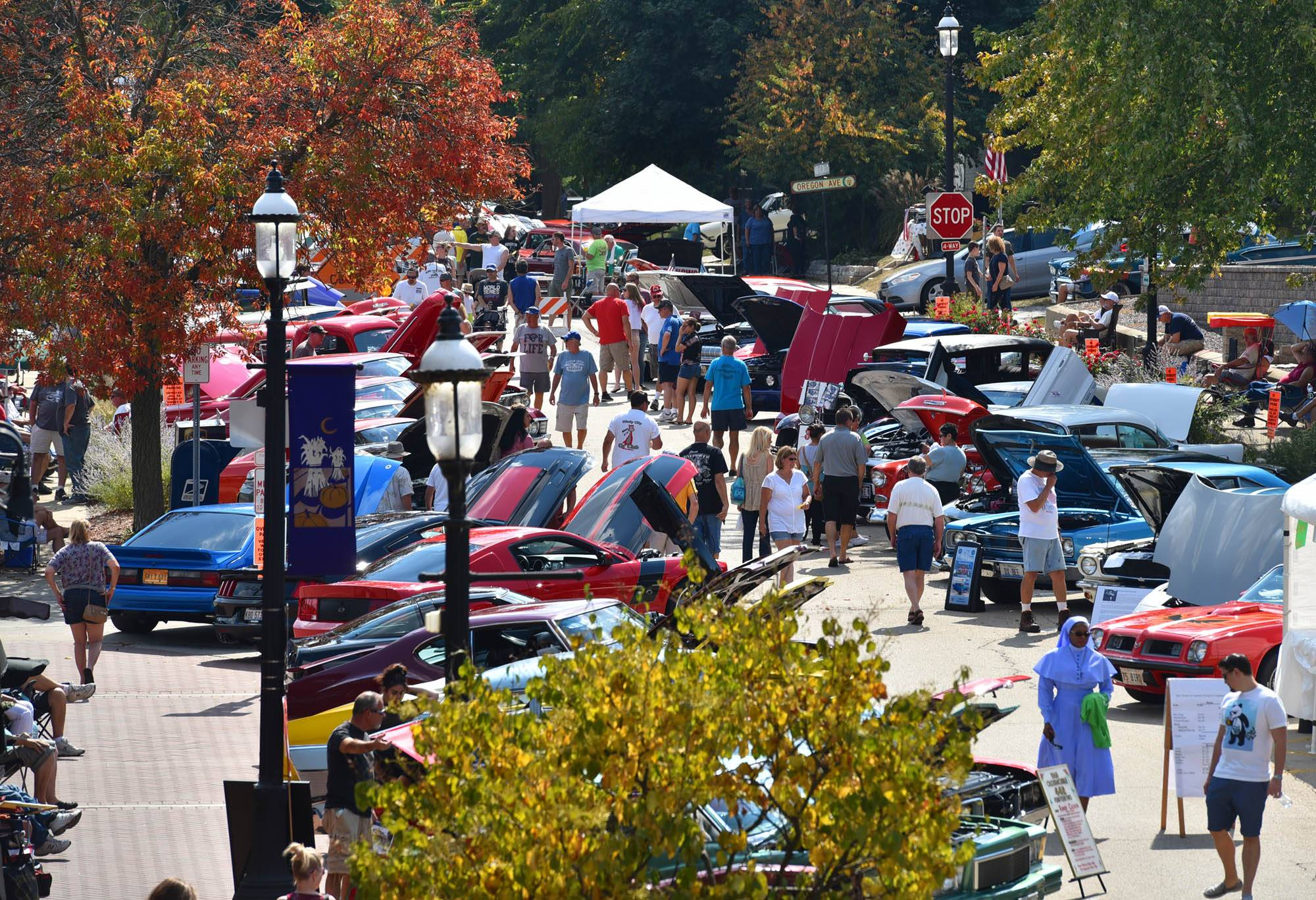 South Second Street in West Dundee is filled with classic cars at last year's Heritage Fest, which took place in both East and West Dundee. This year, East Dundee officials have announced they will not participate in the festival.