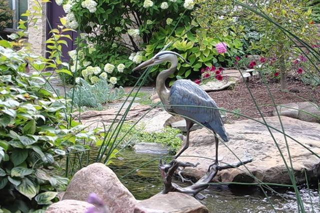 Enjoy the water features at the Levine garden on the Pottawatomie Garden Club's garden walk.