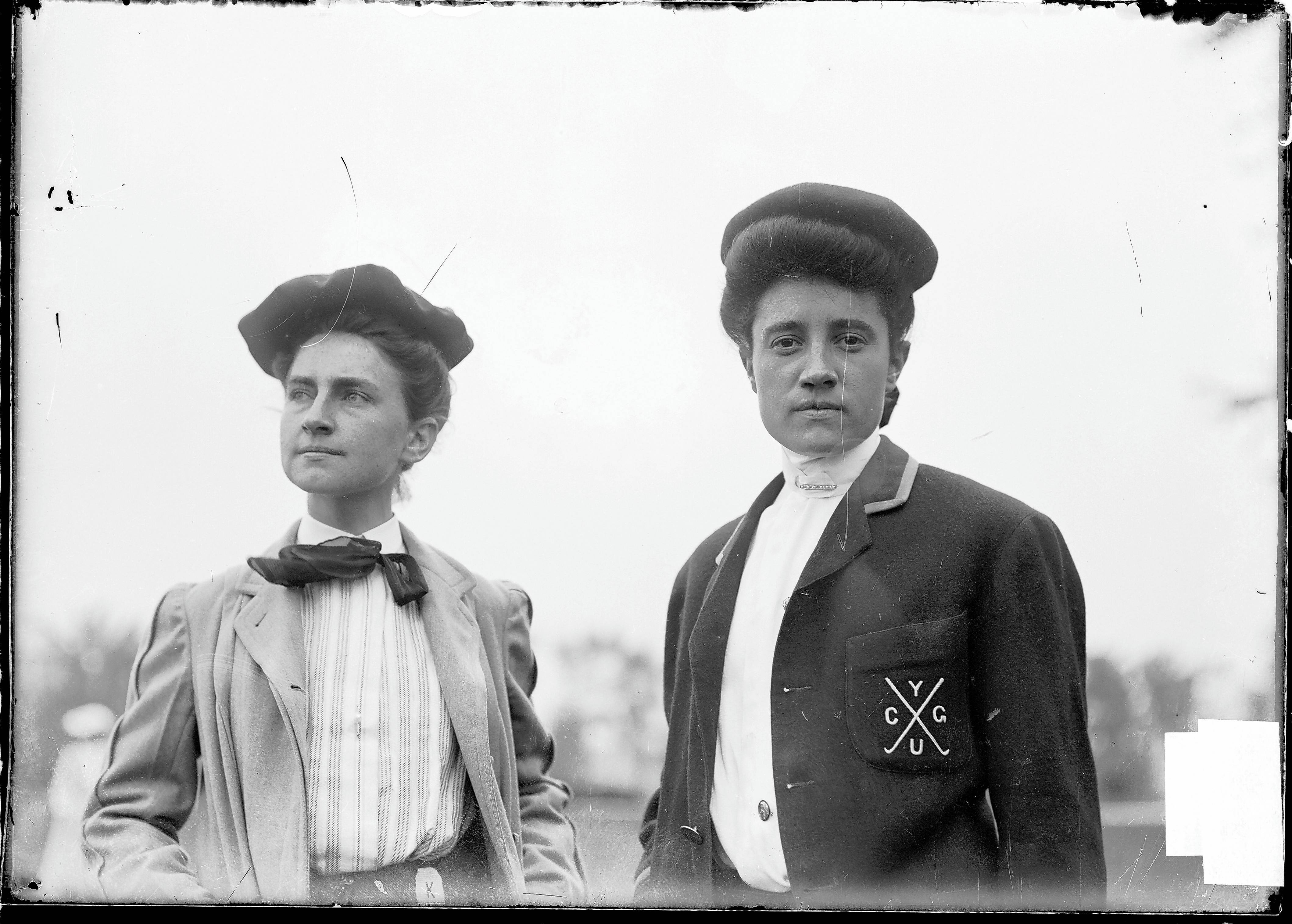 J. Anna Carpenter, left, finished second to Bessie Anthony at the 1903 U.S. Women's Amateur at Chicago Golf Club. The Wheaton course is hosting the U.S. Senior Women's Open 115 years after Anthony's victory.