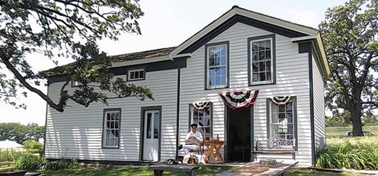 "Visit with World War I re-enactors and see original war equipment at McHenry County Conservation District's ""Living History Open House"" on Sunday, July 15, at the Powers-Walker House."