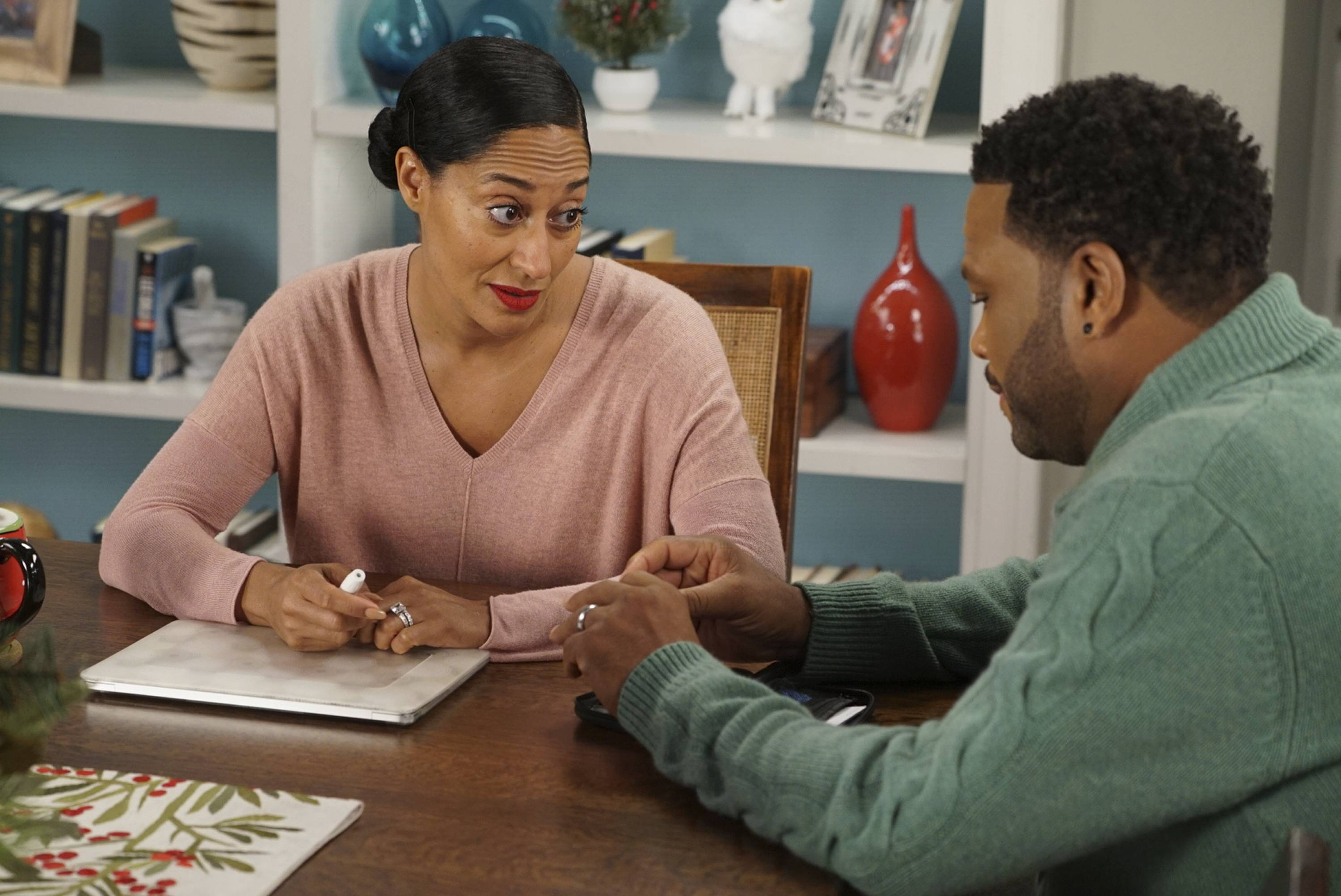 "Tracee Ellis Ross and Anthony Anderson star in ABC's ""black-ish."" Ross was nominated Thursday for an Emmy for outstanding lead actress in a comedy series."