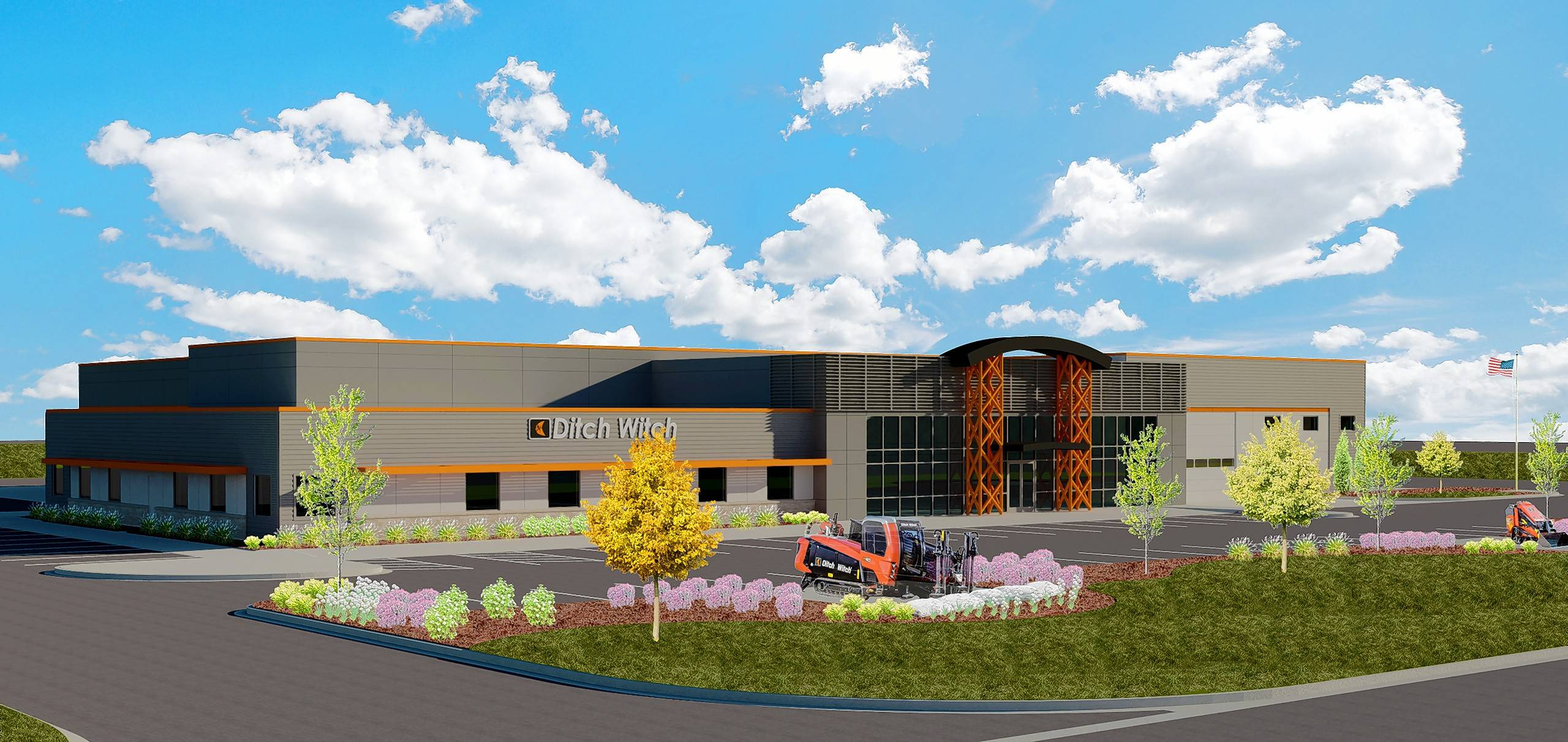 Schramm Construction Corp. will break ground on the new Ditch Witch Midwest facility on July 25.