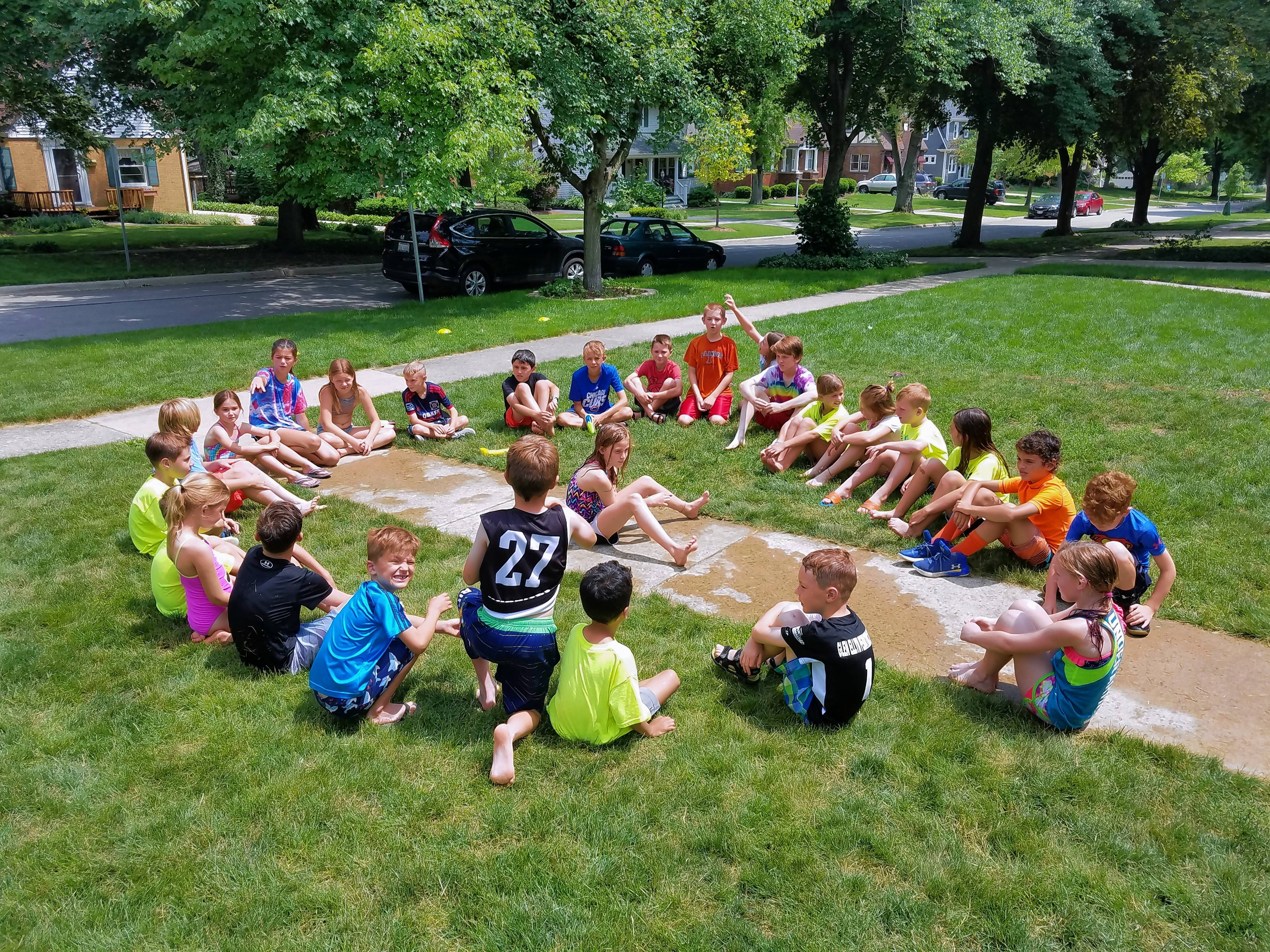 Each day of Exploding Brainiacs camp starts and ends with a game and even includes a Popsicle break.