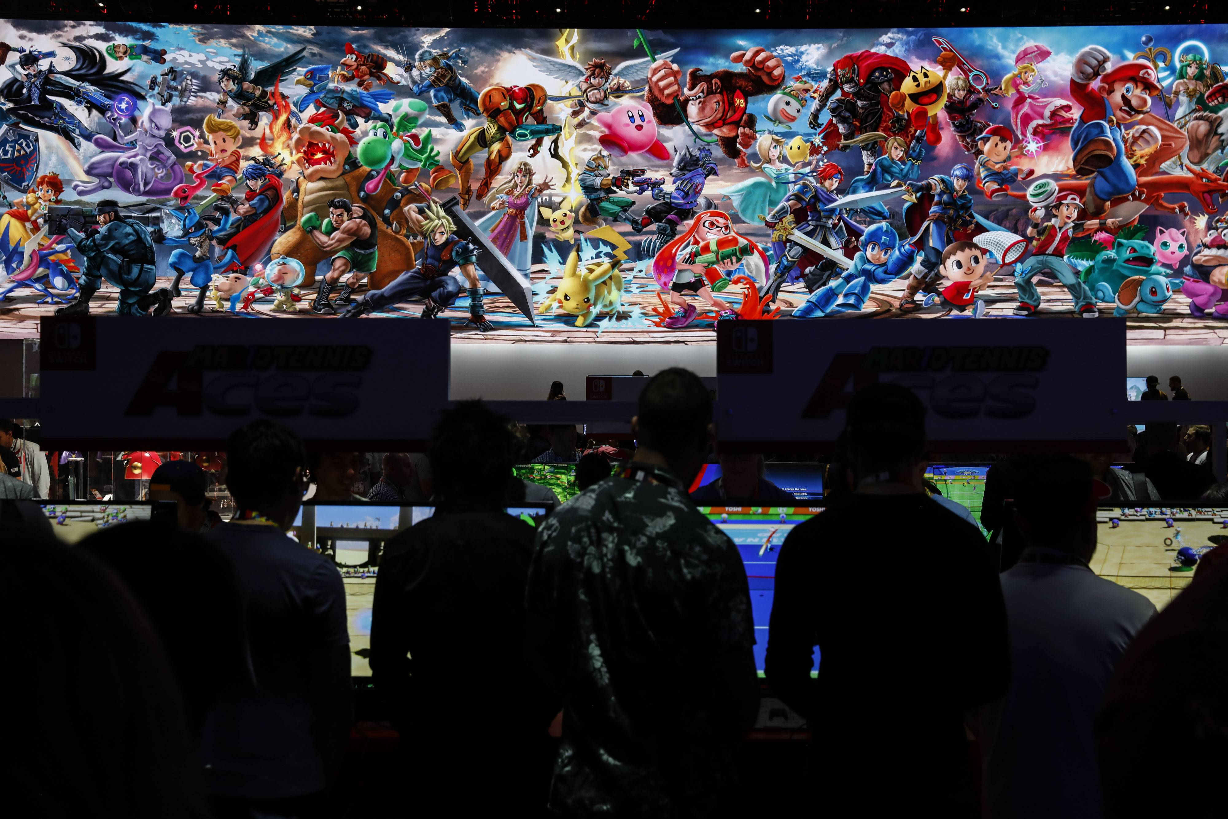 Crowds gather in June at Nintendo's booth at E3 in Los Angeles to play Super Smash Bros. Ultimate.