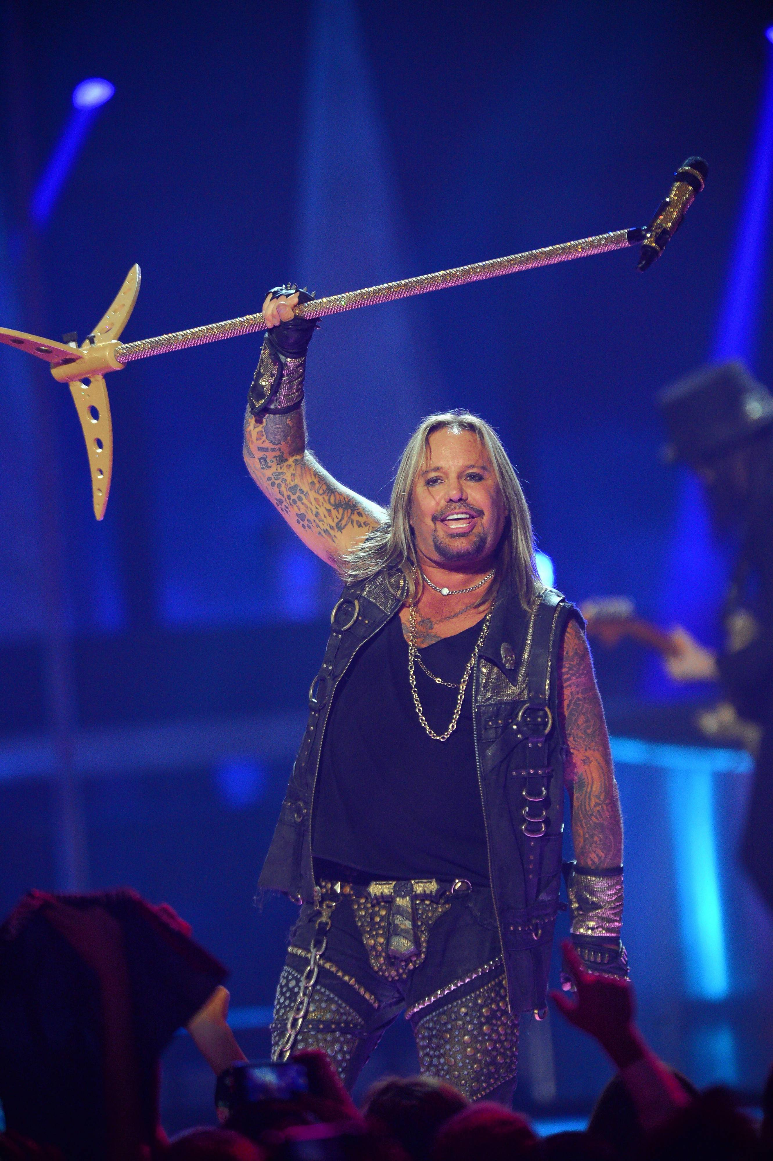 Motley Crue front man Vince Neil performs at the Arcada Theatre Saturday, July 14.