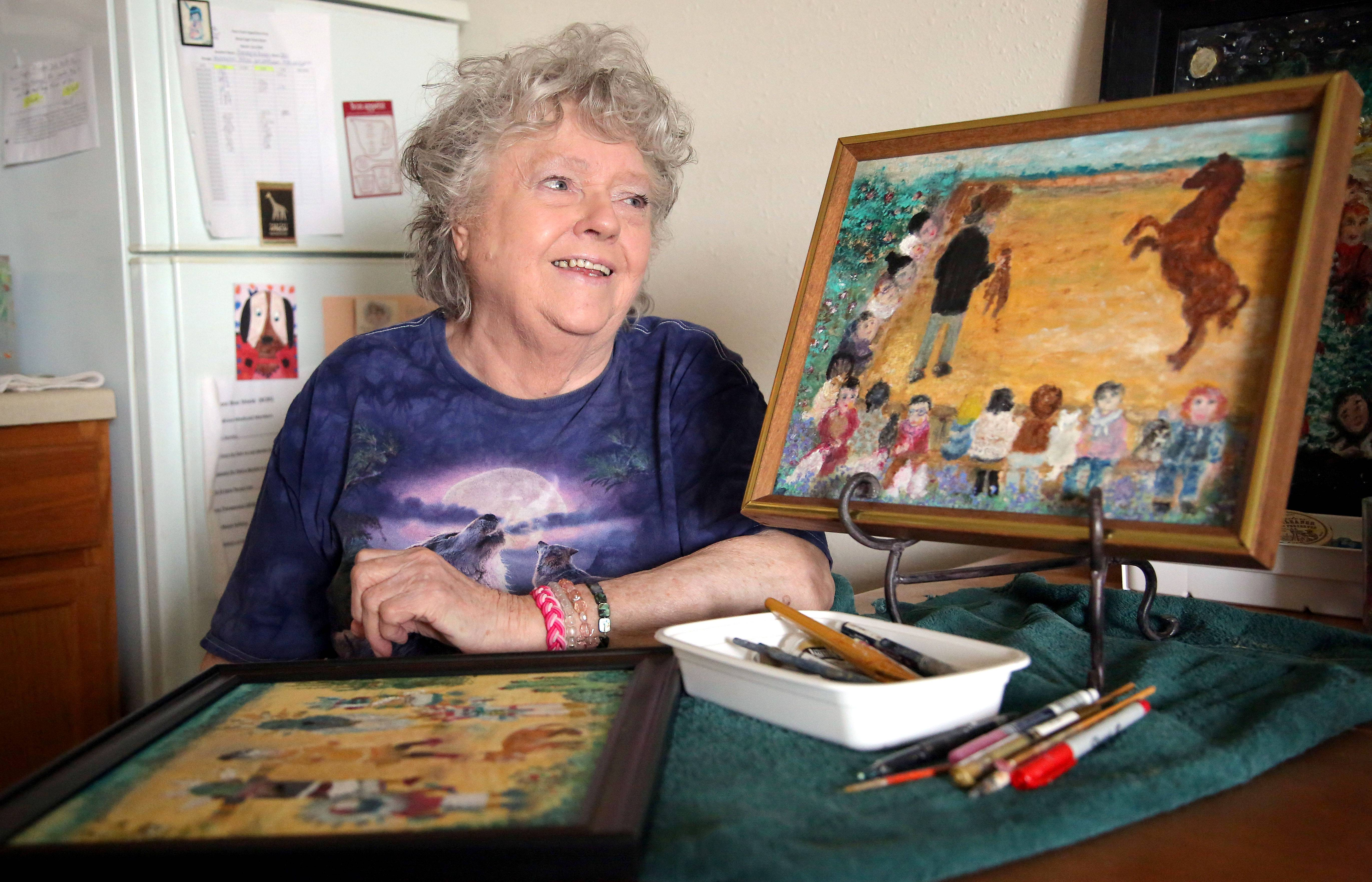 Georgia Pirron, 87, was forced to give up her art after her stroke in 2006. A decade later, she taught herself how to paint with her left hand.