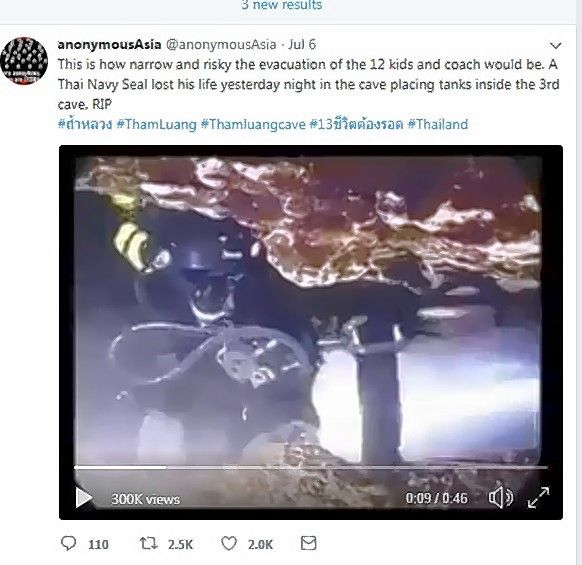 A cave diving video that got hundreds of thousands of views on Twitter actually was from 2012 in Wisconsin.
