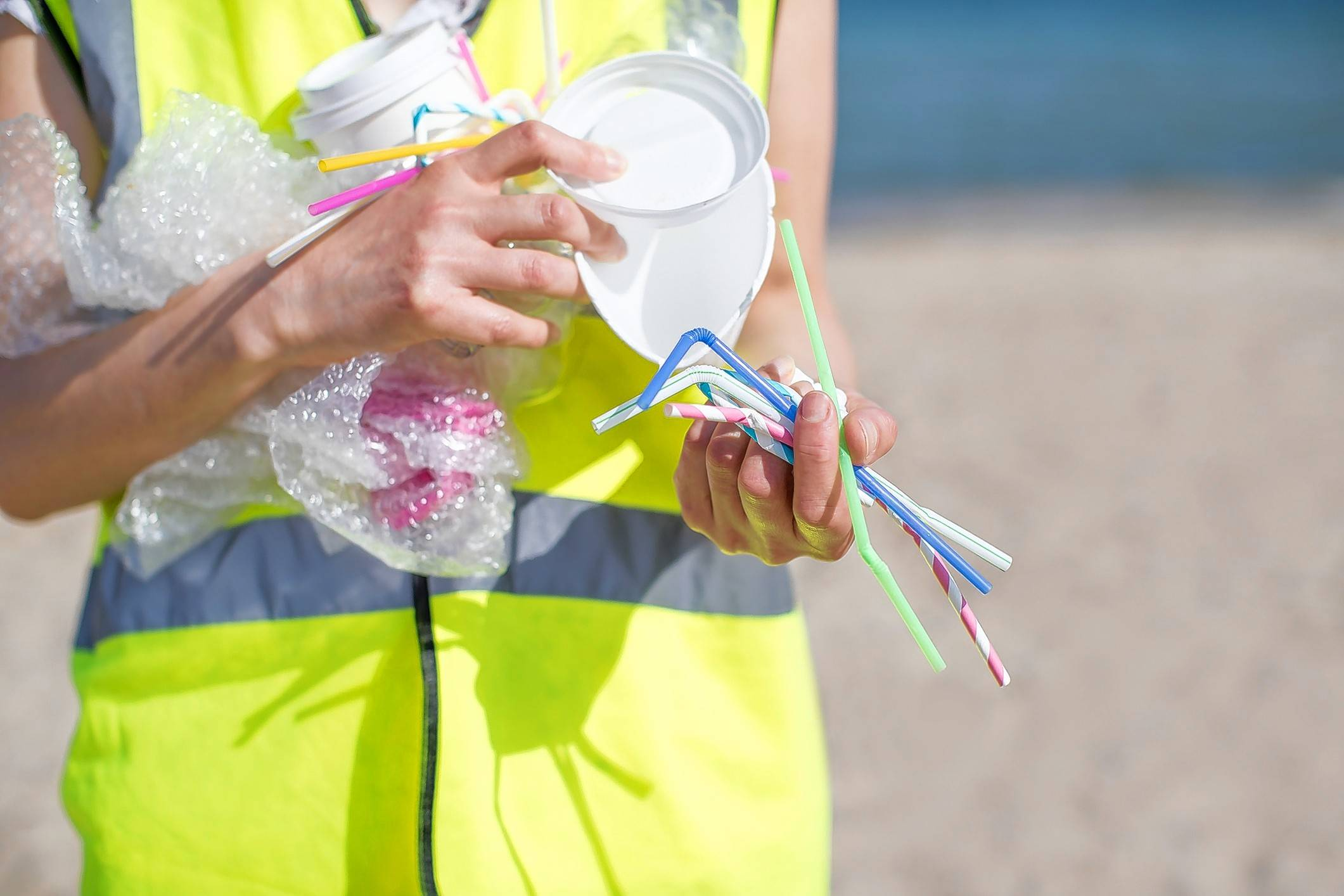 An estimated 7.5 percent of plastic in the environment comes from straws and stirrers. Degraded plastics found in the ocean are ingested by marine wildlife, making their way up the food chain and perhaps winding up at the dinner table.