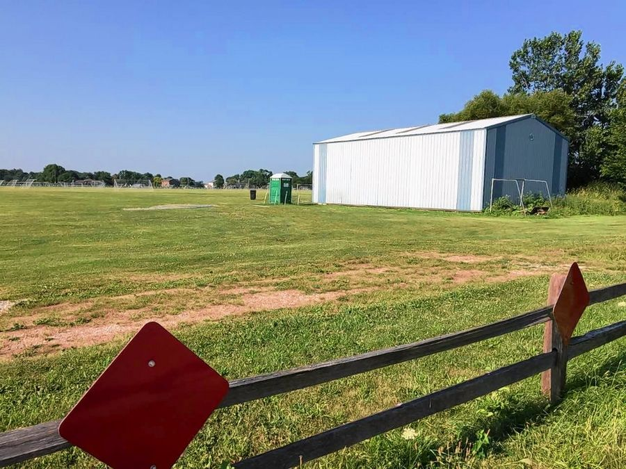 This 110-acre site north of 119th Street and east of Route 59 is used as soccer fields and a horse barn now, but it's the site of a proposed subdivision called Polo Club that is drawing opposition from neighbors.